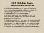 eeo statutory bases disability discrimination