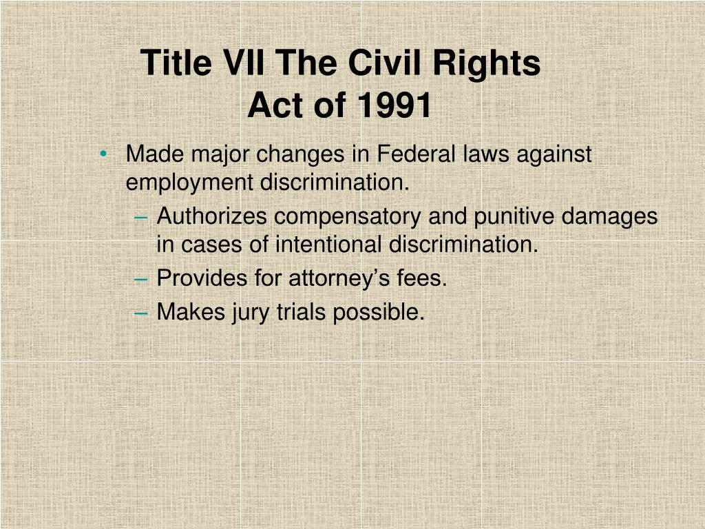 Title VII The Civil Rights