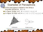 examples of perceptrons