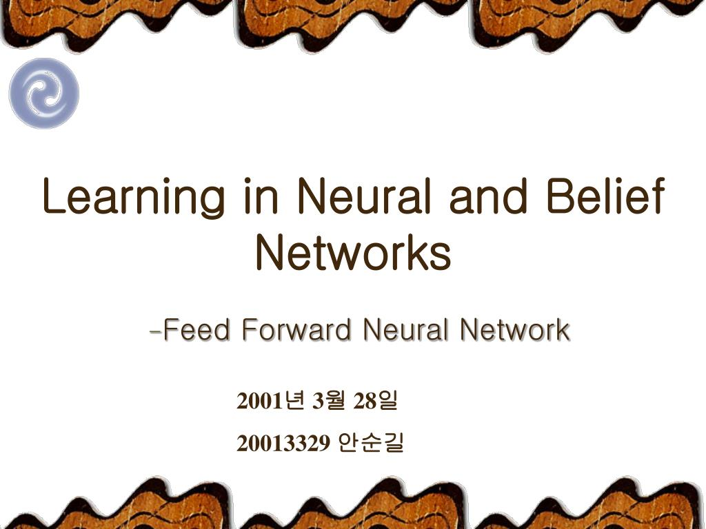 learning in neural and belief networks l.