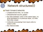 network structures i