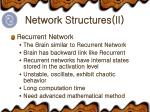 network structures ii
