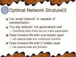 optimal network struture i