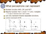 what perceptrons can represent