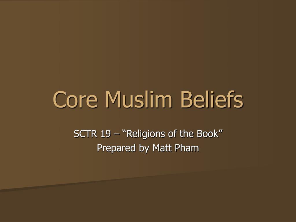 core muslim beliefs l.