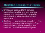 handling resistance to change