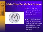 make time for math science