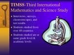 timss third international mathematics and science study