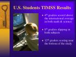 u s students timss results