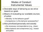 modes of conduct instrumental values