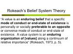rokeach s belief system theory