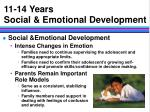 11 14 years social emotional development
