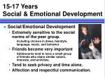 15 17 years social emotional development