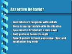 assertive behavior18