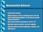 nonassertive behavior10