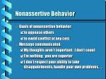 nonassertive behavior9