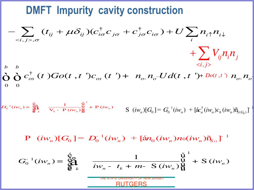 DMFT  Impurity  cavity construction