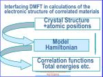 interfacing dmft in calculations of the electronic structure of correlated materials