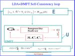 lda dmft self consistency loop