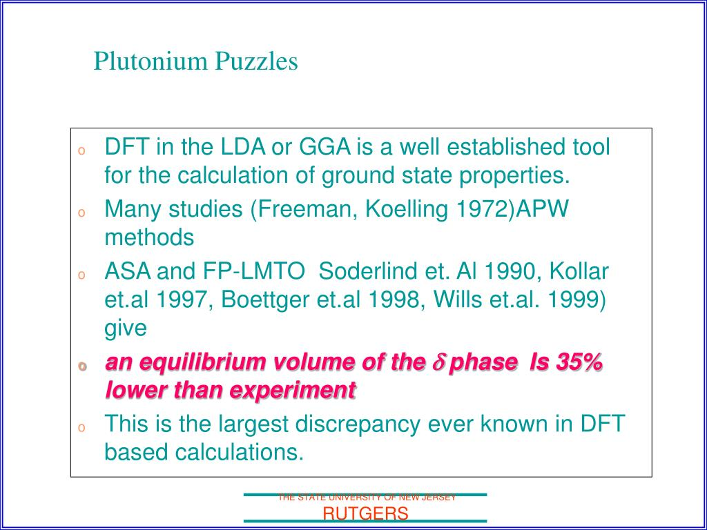 DFT in the LDA or GGA is a well established tool for the calculation of ground state properties.