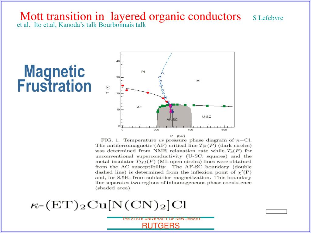 Mott transition in  layered organic conductors