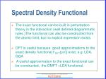 spectral density functional