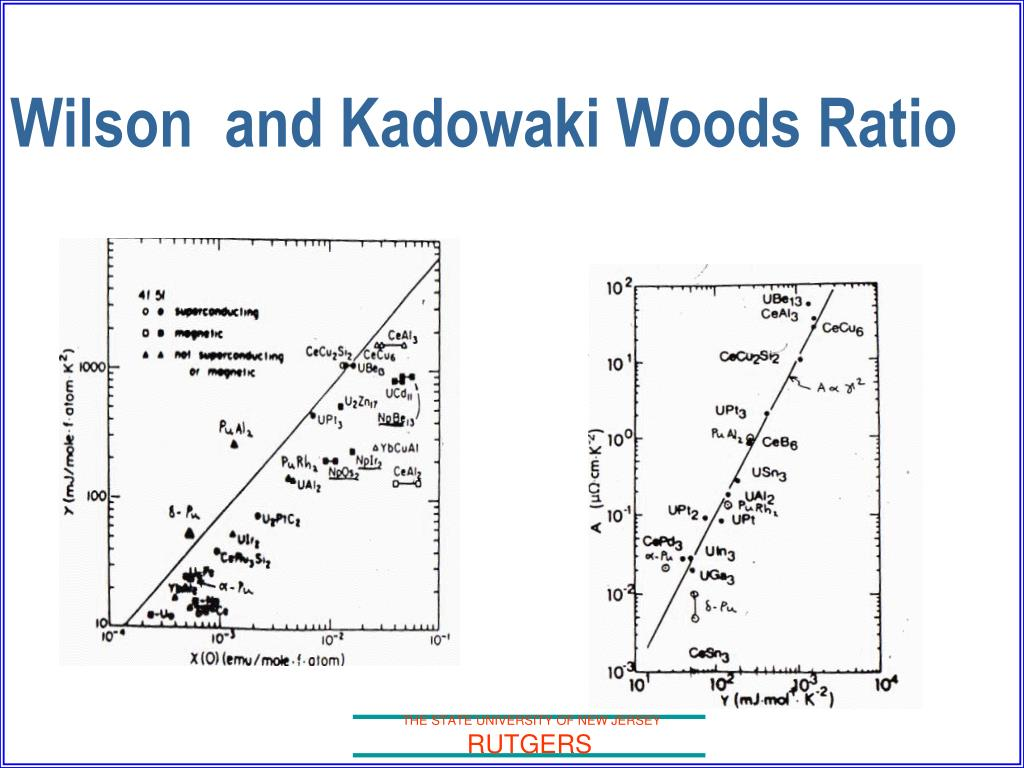 Wilson  and Kadowaki Woods Ratio