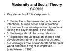 modernity and social theory so352310