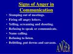 signs of anger in communication