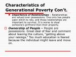 characteristics of generational poverty con t