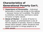 characteristics of generational poverty con t11