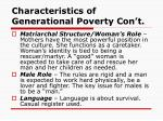 characteristics of generational poverty con t12