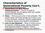 characteristics of generational poverty con t13