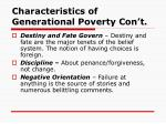 characteristics of generational poverty con t14