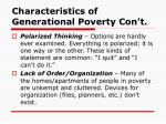 characteristics of generational poverty con t15