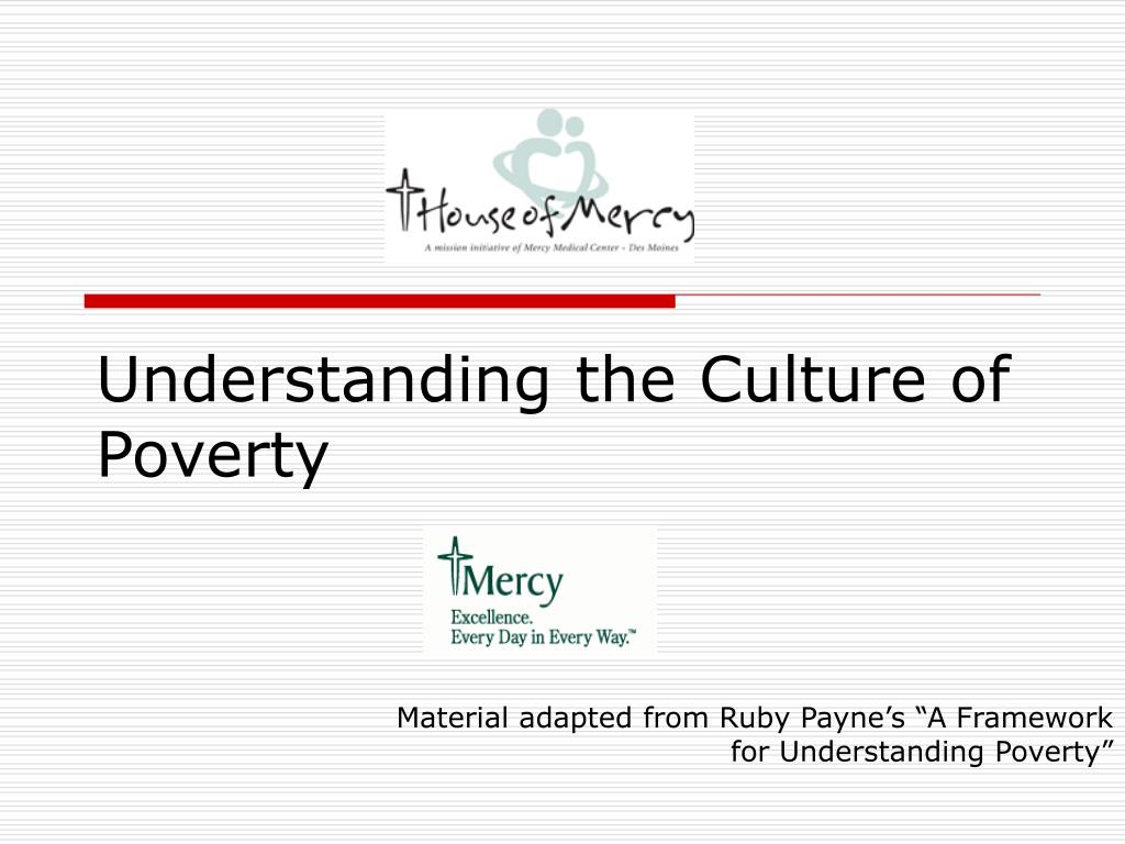 understanding the culture of poverty l.