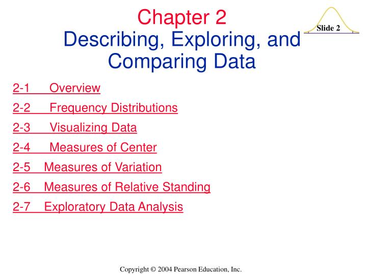Chapter 2 describing exploring and comparing data