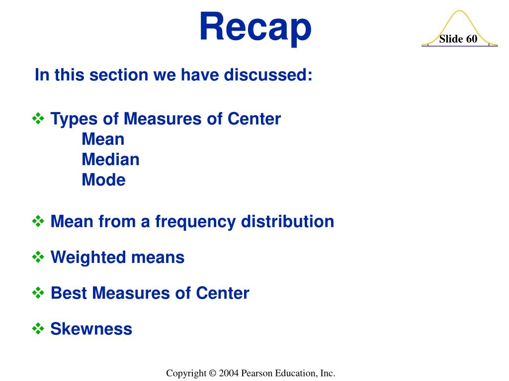 Types of Measures of Center