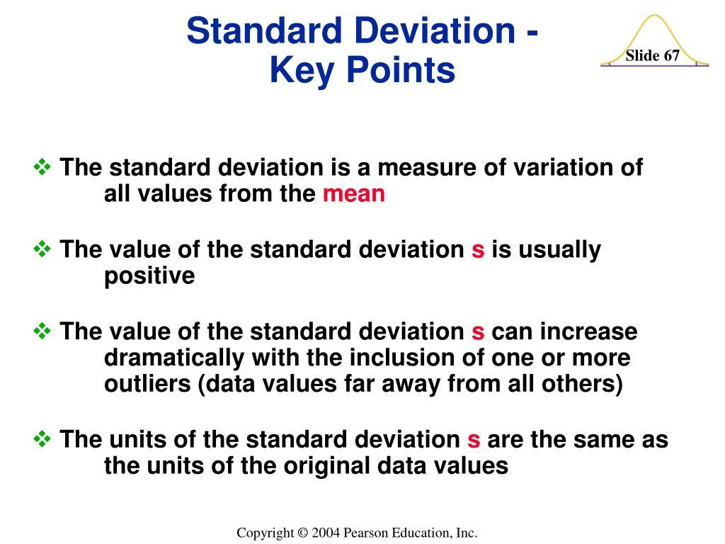 Standard Deviation -