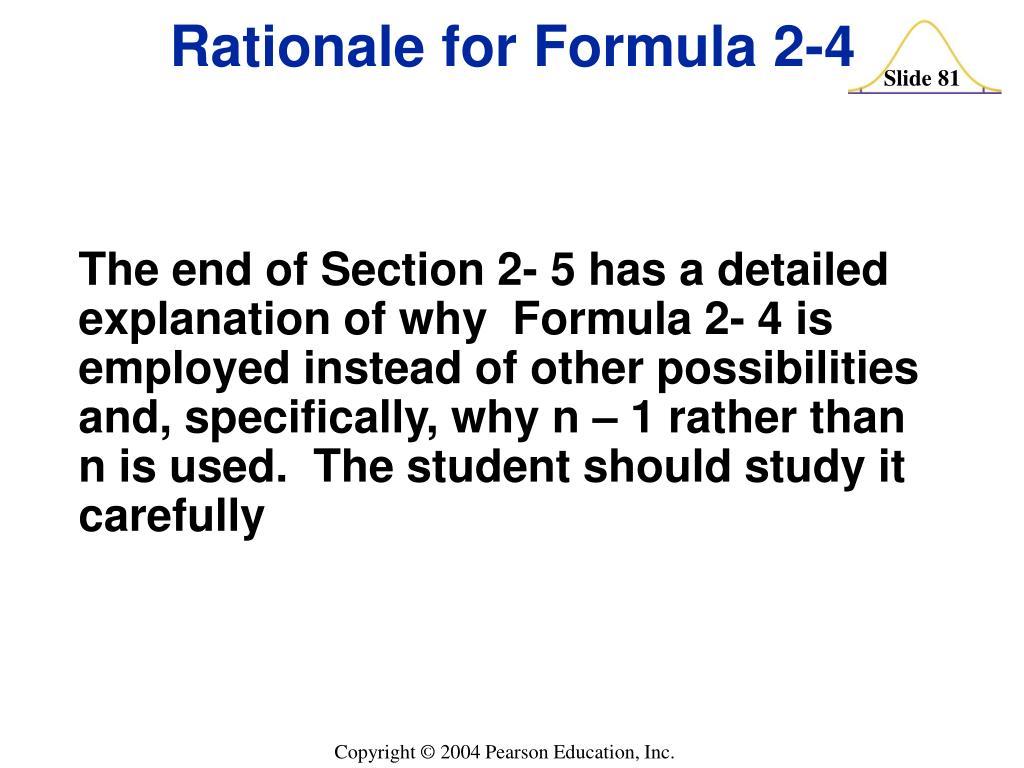 Rationale for Formula 2-4