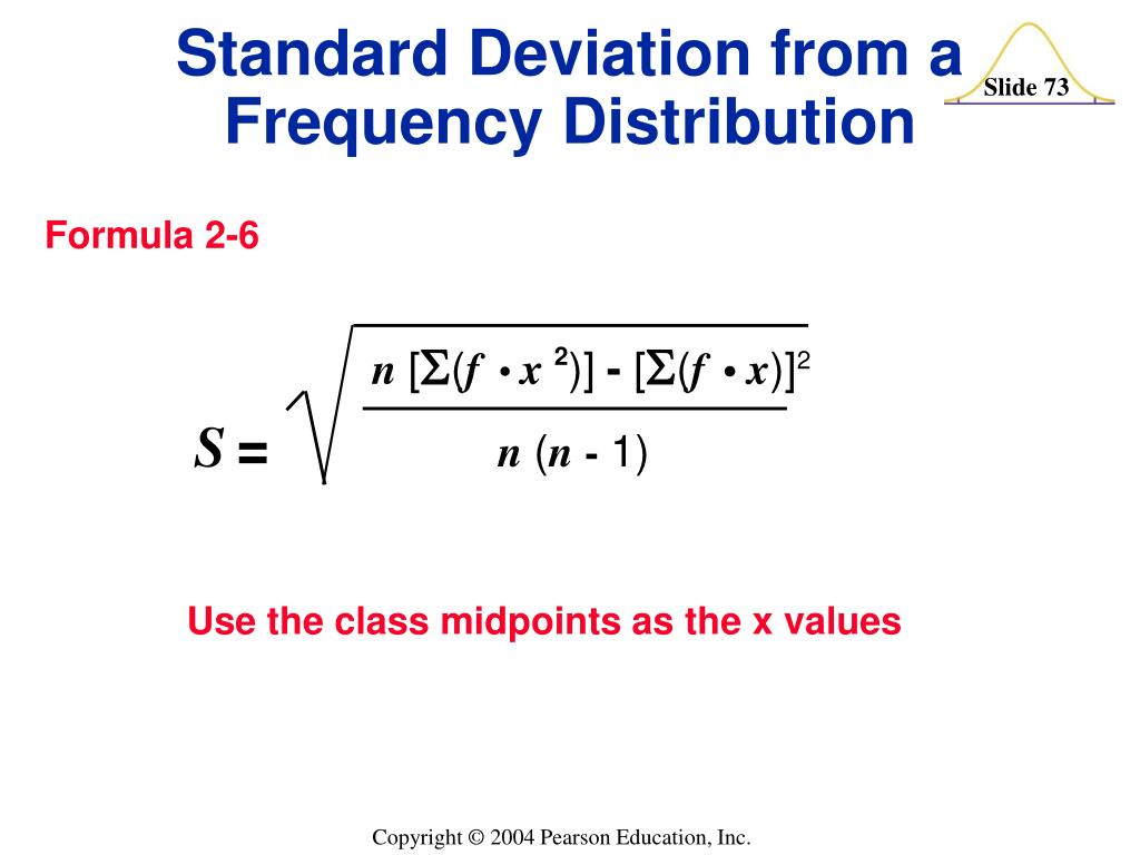Use the class midpoints as the x values