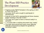 the plano isd practice development