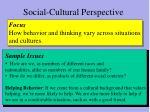 social cultural perspective