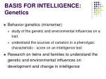 basis for intelligence genetics