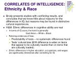 correlates of intelligence ethnicity race