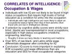 correlates of intelligence occupation wages