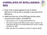 correlates of intelligence ses