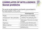 correlates of intelligence social problems