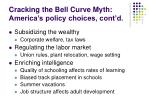 cracking the bell curve myth america s policy choices cont d