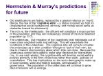 herrnstein murray s predictions for future